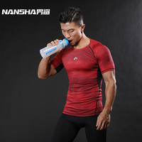 NANSHA Mens Fitness 3D Prints Short Sleeves T Shirt Men Bodybuilding Skin Tight Thermal Compression Shirts