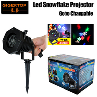 Gigertop TP E33 5W Waterproof Led Snowflake Light Support Gobo Plate Change Ip65 Garden Tree Building Gobo Led Projector Outdoor