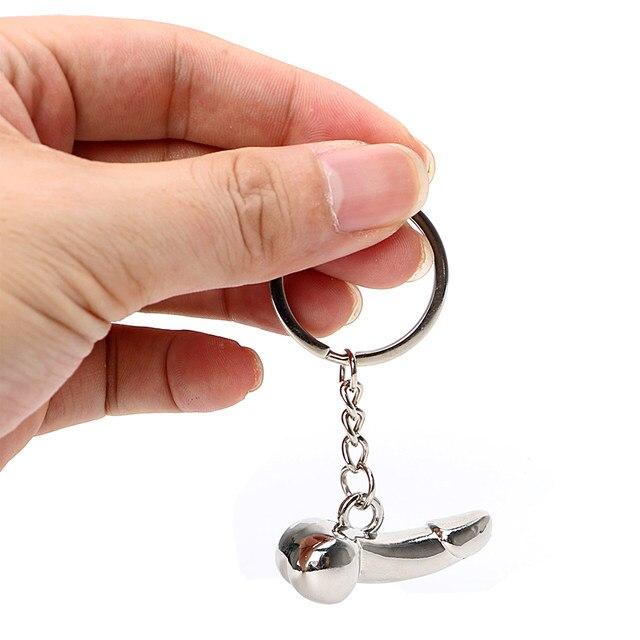 Zinc Alloy Fashion Penis Shape Car Key Chain Keychain Dildo Key Rings Auto  Key Ring Keyfob Creative Gift Car Styling Accessories