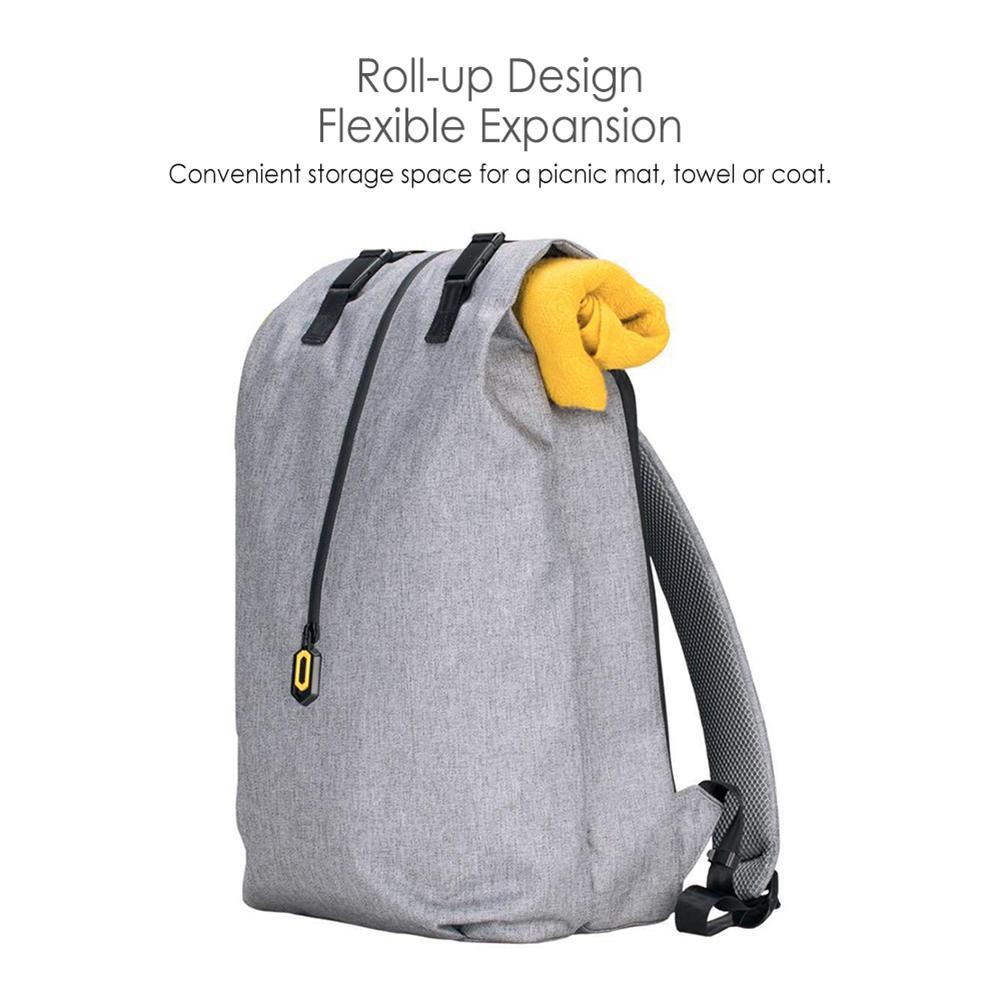 Xiaomi extérieur voyage décontracté respirant fermeture éclair imperméable à l'eau 14 pouces sac à dos pour ordinateur portable