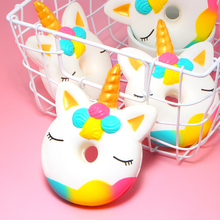 Unicorn Donut Shaped Squishy Toy