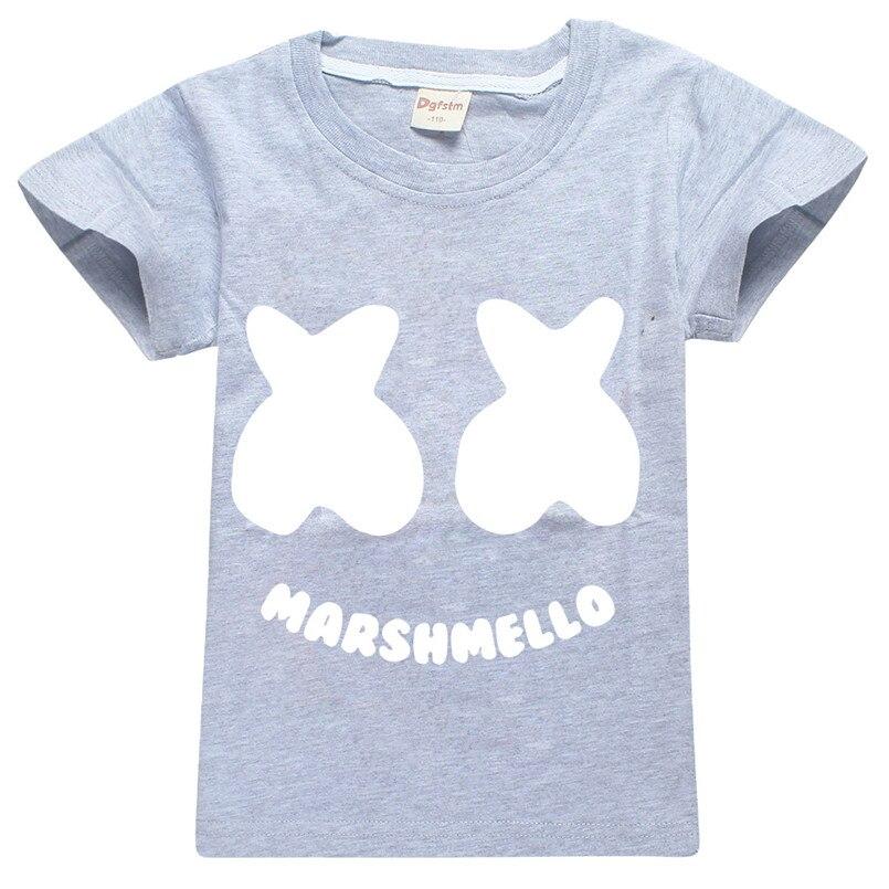 Marshmello Dj Mask Music Style Girls Top Tees 2019 Children T Shirt Mother & Kids Pants Clothes Summer Kids Boys T Shirt Set 3--14 Year Boys' Clothing