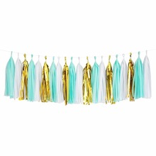 Paper Garland Shinny Tissue Paper Tassels for Party Birthday Wedding Garland Bunting Tissue paper PomPoms Decorations 5000pcs