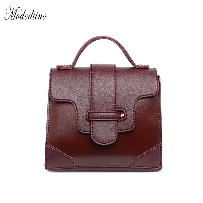 Mododiino Classic Patchwork Vintage Messenger Bags Casual PU Leather Flap Fashion Simple Shoulder Bag New Bolsa Feminina DNV0170
