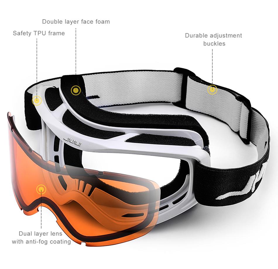 new herba brand ski goggles ski goggles double lens