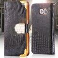 Luxo pu estojo de couro para samsung galaxy s6 s7 s6 edge glitter diamante capa flip stand tampa do slot de cartão para samsung fundas Coque