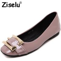 Ziselu 2017 new buckle women ballet flats spring autumn basic pu leather slip on shallow flats.jpg 200x200