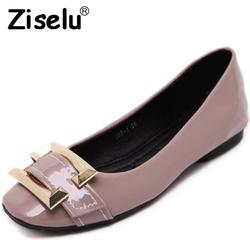 Ziselu 2017 new buckle women ballet flats spring autumn basic pu leather slip on shallow flats.jpg 250x250