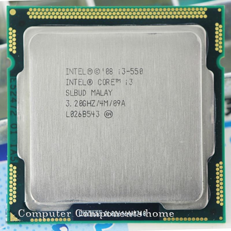 Оригинальный процессор INTEL i3 550 lga 1156 (3,2 ГГц / 4 МБ кэш-памяти) для настольного процессора I3-550 с гарантией 1 год