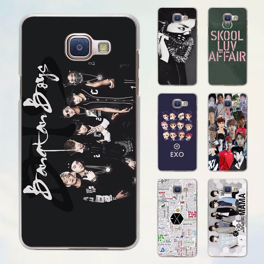 official photos 8fe7a f63c9 Exo Kpop band BTS boys style transparent clear phone shell case for Samsung  Galaxy A3 A510 A7 2017 A8 A9 A5 2017-in Half-wrapped Case from Cellphones  ...