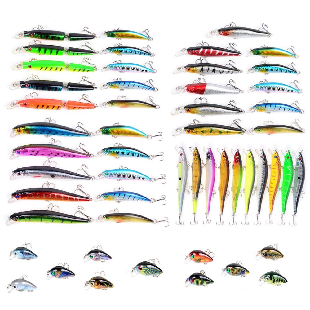 6 styles Mixed Fishing Lure Set Artificial Fishing Lure Kit wobbler Minnow Crankbait Fishing Hard Bait Fishing Lures     - title=