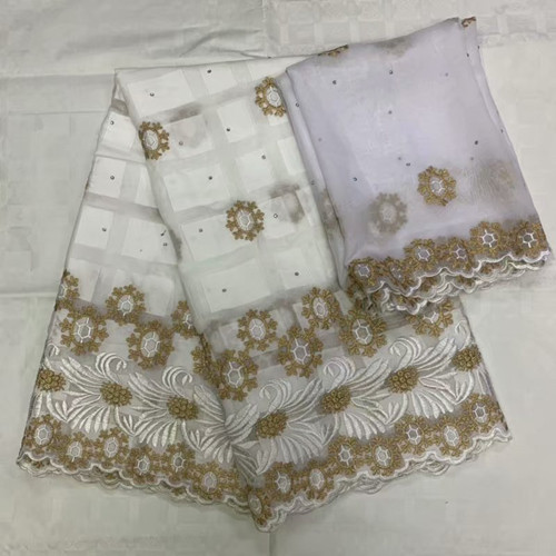 white French Cotton Lace Latest Embroidery African Lace Fabric High Quality Dubai Bazin Riche Getzner  A14-15white French Cotton Lace Latest Embroidery African Lace Fabric High Quality Dubai Bazin Riche Getzner  A14-15