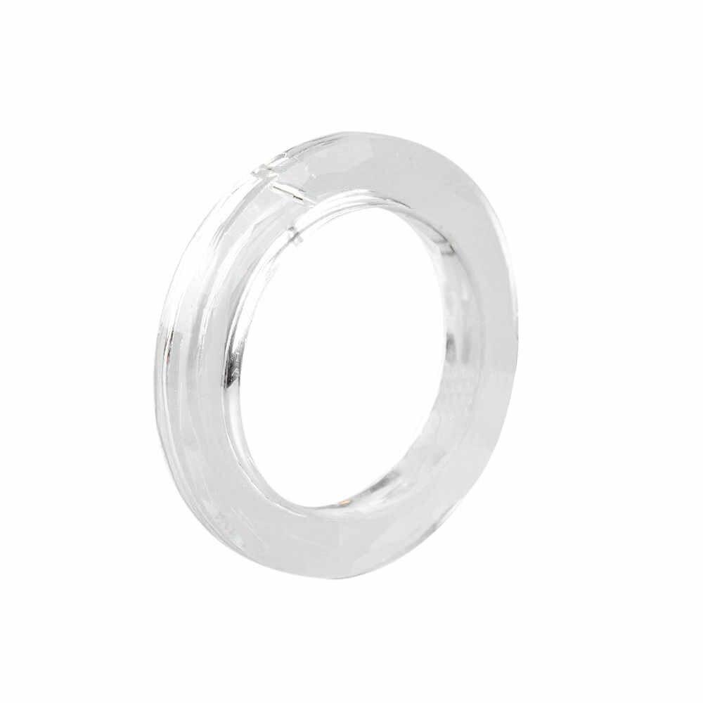 1 шт. вручение люстра в форме кольца стеклянные кристаллы Ламповые призмы части капли кулон 50 мм Anillos De Cristal Новый # h