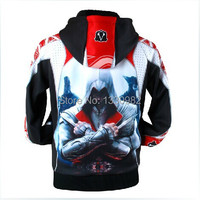 Hot Assassins Creed Hoodie Tracksuit Men Thick Fleece Sudaderas Hombre Winter Mens Hoodies And Sweatshirts High