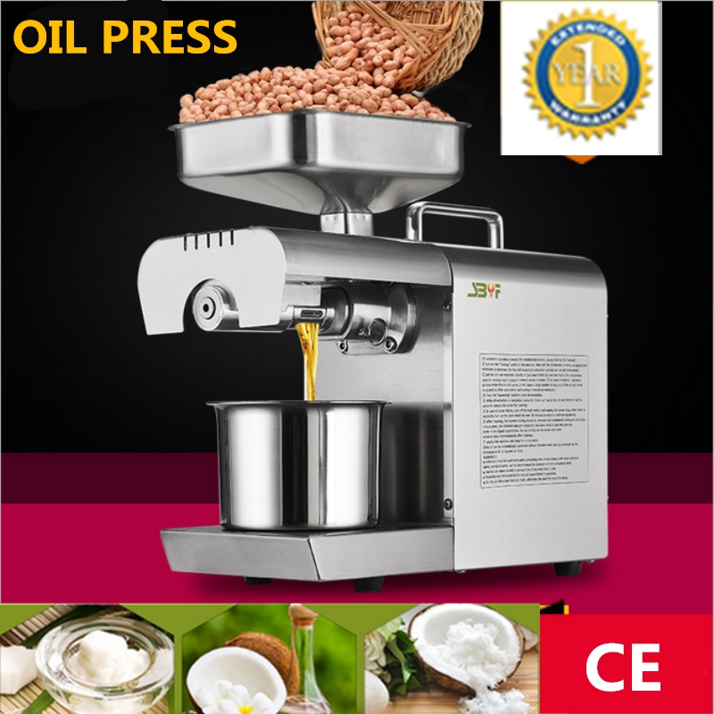 Mini 220V 110V Heat And Cold Press Home Olive kernel Oil Press Machine Pine Nut, Almond, Coconut Oil Press Machine automatic nut seeds oil expeller cold hot press machine oil extractor dispenser 350w canola oil press machine
