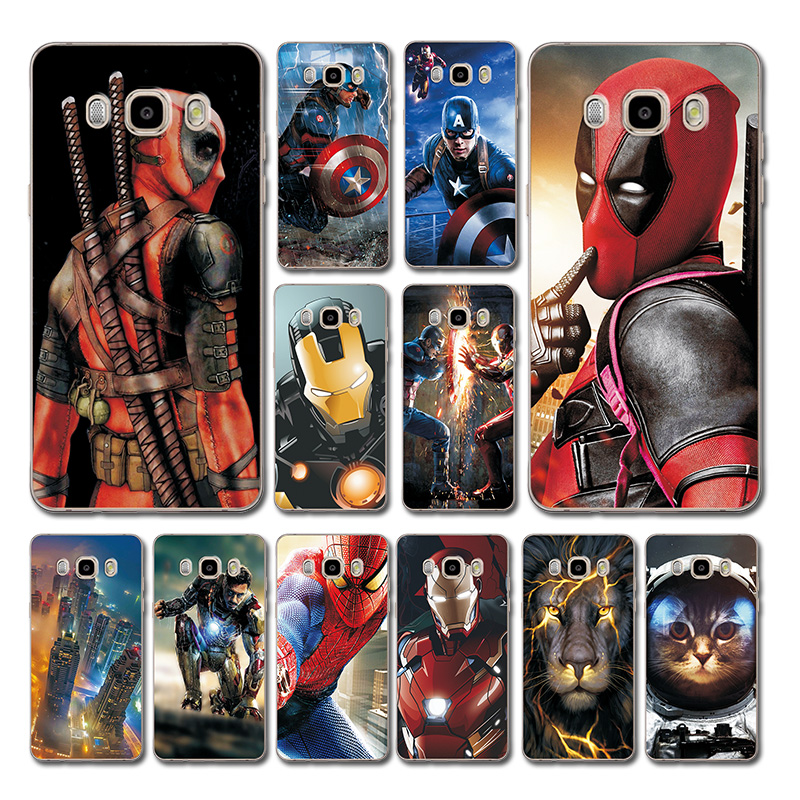 For <font><b>Samsung</b></font> <font><b>Galaxy</b></font> <font><b>J5</b></font> J7 2017 Bumper Brilliant Deadpool Printed Soft TPU <font><b>Case</b></font> Cover J3 <font><b>2016</b></font> <font><b>Phone</b></font> <font><b>Case</b></font> For <font><b>Samsung</b></font> <font><b>J5</b></font> J7 <font><b>2016</b></font> image