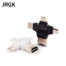 JRGK 4 в 1 Тип-c/Lightning/Micro USB устройство чтения карт памяти Micro SD Card Reader для эндрюс/iphone/Тип-c/компьютер