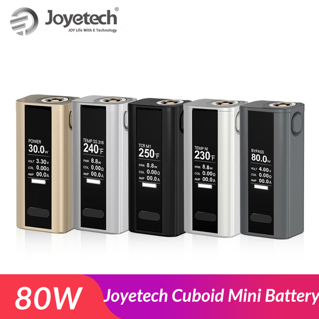 Ban đầu Bộ Sản Phẩm Joyetech Cuboid Mini Pin Đổi 80 W với Xây Dựng năm 2400 mAh pin Box Mod thuốc lá Điện Tử Vape Mod