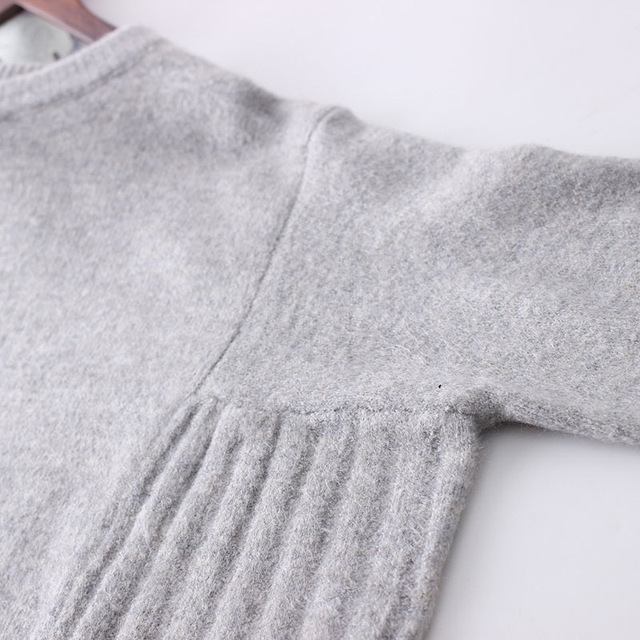 Women Plus Size Solid Color Loose Sweaters Knitwear Knitted Pullovers Tops Ladies Bat Sleeve Oversized Sweaters Autumn Spring