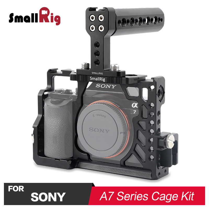 SmallRig A7 Camera Accessories Rig Cage Kit for SONY A7/ A7S/ A7R With Top Handle Grip & HDMI Cable Clamp 2010 digitalfoto tilta a7 professional dslr camera rig cage with baseplate wooden handle top handle for sony a7 a7s a7s2 a7r a7r2