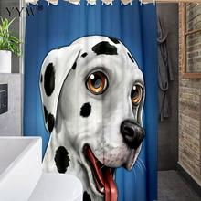 1 Pc Large Peva 3d Waterproof Shower Curtain Cute Animal Bath Screens White Clear Bathroom Luxury Curtains