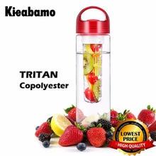 Kieabamo 700ML BPA Free Water Bottles Fruit Infusing Infuser Water Lemon Juice