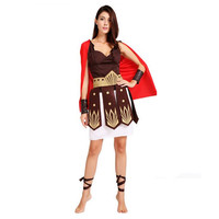 new Ancient Roman Warrior Masquerade Party Outfit Women Halloween Adult Cosplay