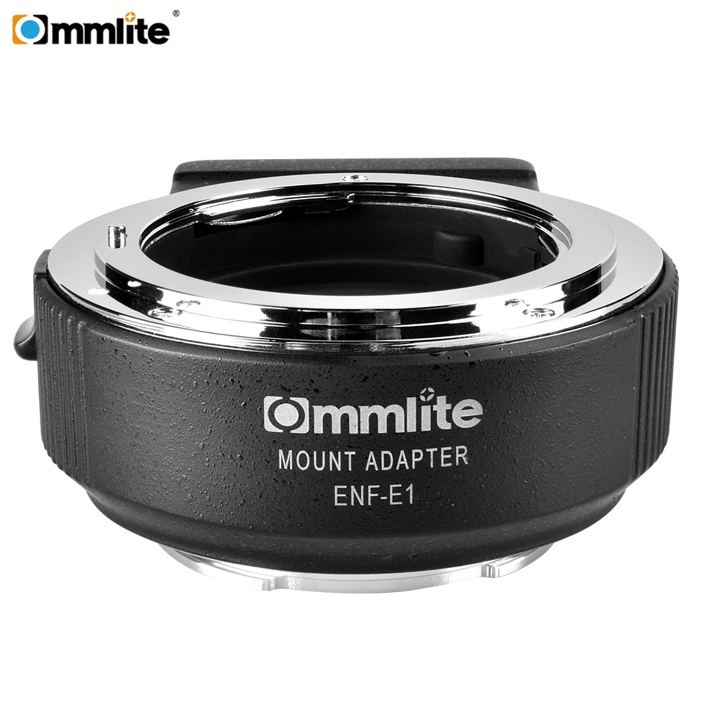 Commlite CM ENF E1 PRO Auto Focus Lens Mount Adapter for Nikon F Lens only for Sony E Mount A7R2 A7II A6300 A6500 A7R Mark II-in Lens Adapter from Consumer Electronics    1