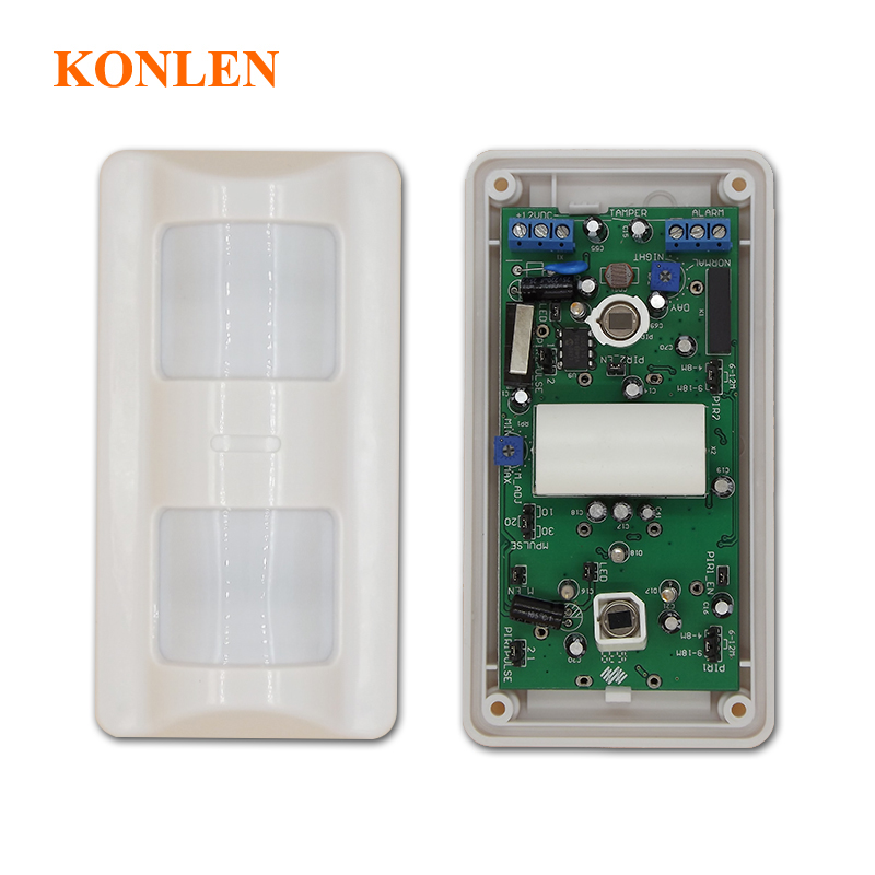Wired Outdoor Motion Sensor Alarm Pet Immunity Detector by PIR and Microwave ASIC analysis