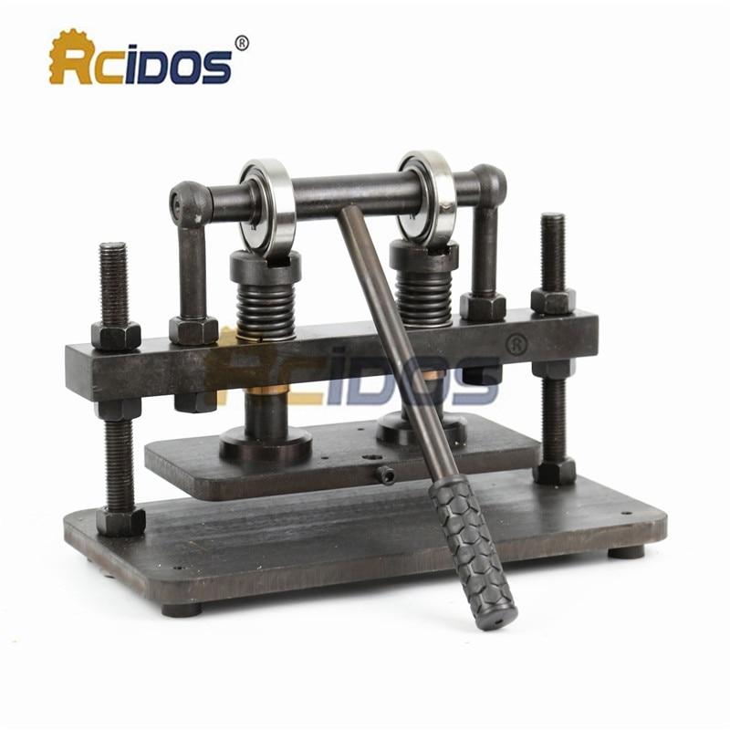26x12cm Double Wheel Hand Leather Cutting Machine,RCIDOS Photo Paper,PVC/EVA Sheet Mold Cutter,leather Die Cutting Machine