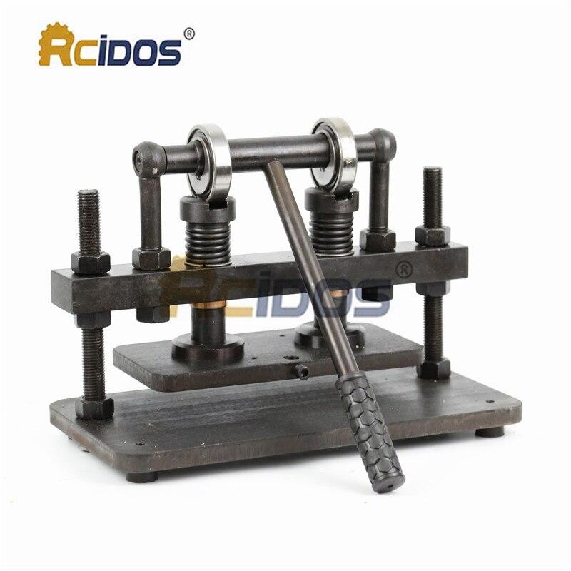 Découpeuse en cuir de main de Double roue de 26x12 cm, papier photo de RCIDOS, coupeur de moule de feuille de PVC/EVA, machine de découpage en cuir