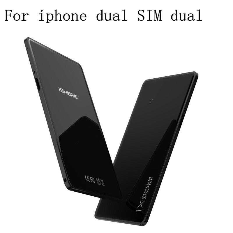 Dual SIM Dual Card Adattatore Senza Fili di Bluetooth 4.0 Intelligente Dual Micro lettore di Schede di 4 millimetri Ultra sottile Per iPhone x 8 più di iPad