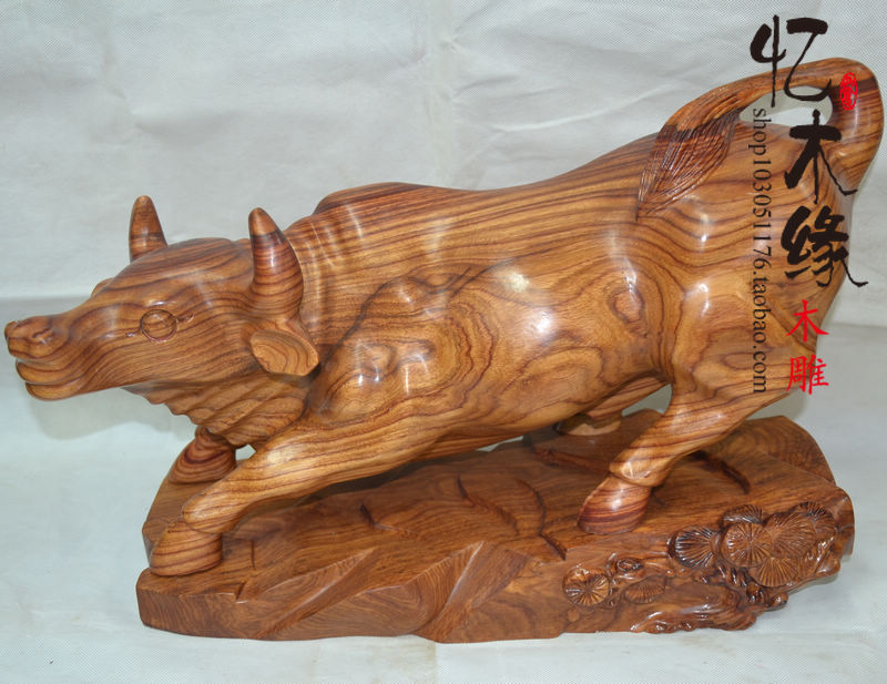 Wood wood rosewood crafts Wangcai cattle Zodiac cattle to cattle Home Furnishing universe decoration decoration ювелирное изделие 6344
