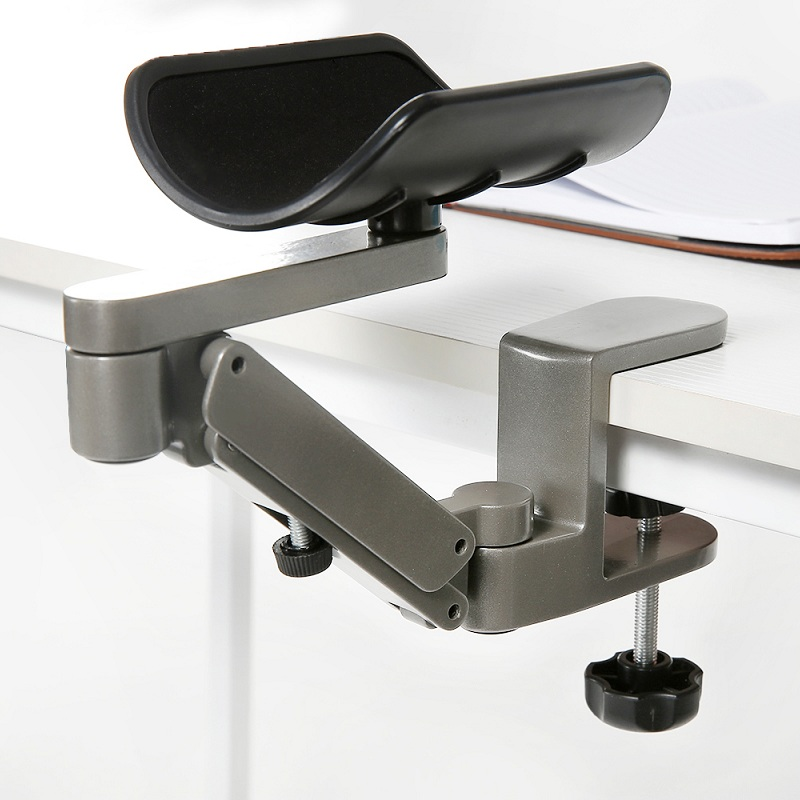 Haute qualité métal réglable en hauteur ergonomique en alliage d'aluminium tapis de souris ordinateur et souris main support main glisser poignet support