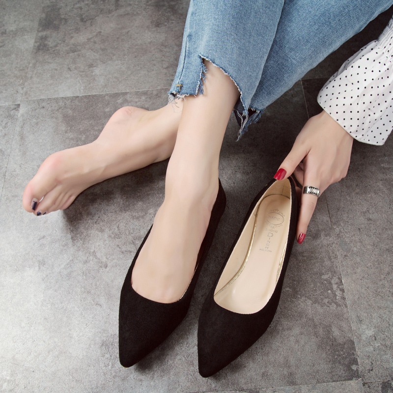 2019  Summer/Autumn Fashion Women Flats Slip on Shoes Candy Color Woman Boat Shoes  Ladies Shallow Ballet Flats Female Footwear 2