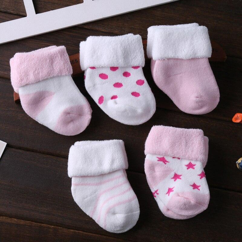 5/6 пара/лот; ; нескользящие носки для малышей; носки для девочек; для мальчиков; 0-12 месяцев - Цвет: SK5005