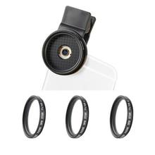 ZOMEi Kit de lentes 3 en 1 con Clip de 37mm para teléfono móvil, cámara profesional para teléfono móvil, filtros de brillo cruzado, 4 puntos + 6 puntos y 8 puntos