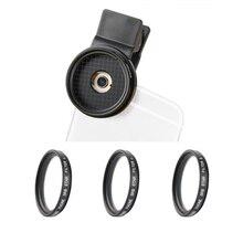 Zomei 37Mm Clip Op 3 In 1 Professionele Mobiele Telefoon Camera Star Cross Twinkle Filters Lens Kit 4 Punten + 6 Punten En 8 Punten