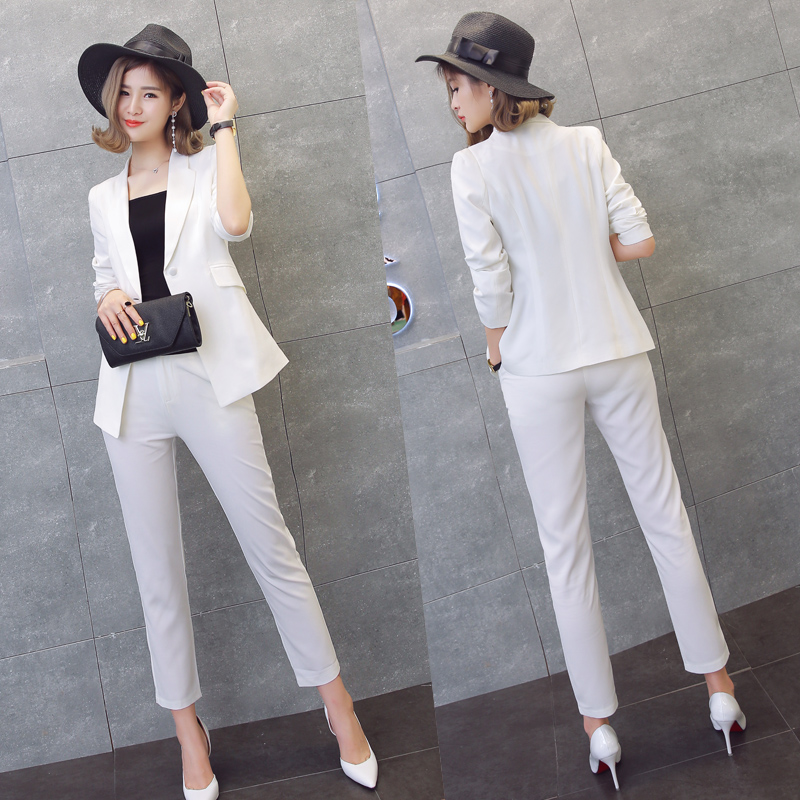 edff346030 NEW Pant Suits Women Casual Office Business Suits Formal Work Wear Sets  Uniform Styles Elegant Pant Suits Costumes for women-in Pant Suits from  Women s ...
