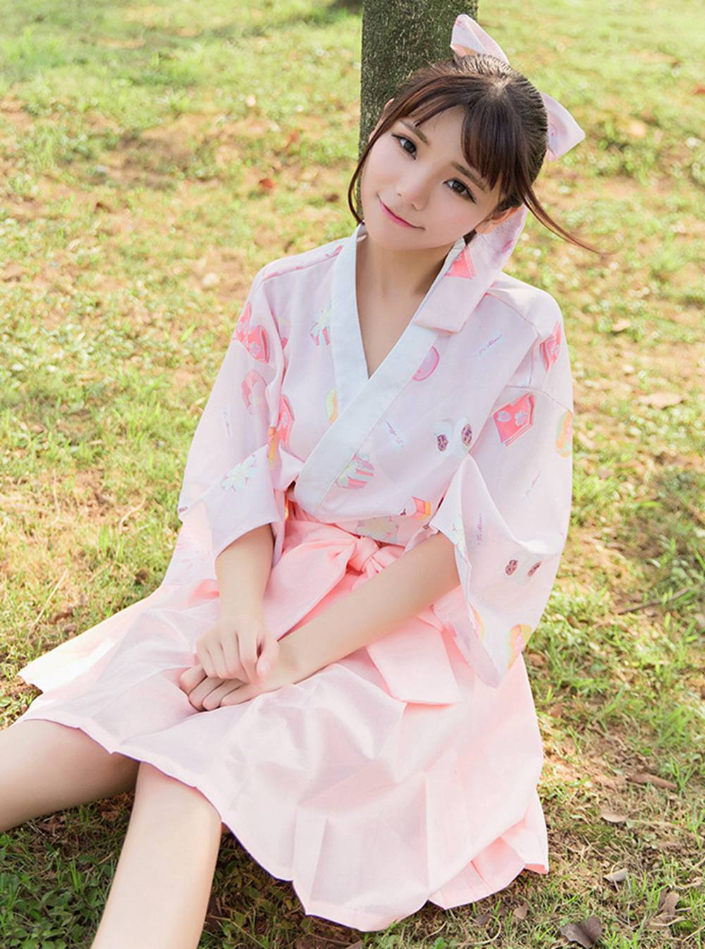 Japanese Kawaii Wagashi Yukata Kimono Cardigan Women Cute Harajuku   Blouse     Shirt   Tops