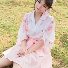 Japanese Kawaii Wagashi Yukata Kimono Cardigan Women Cute Harajuku Blouse