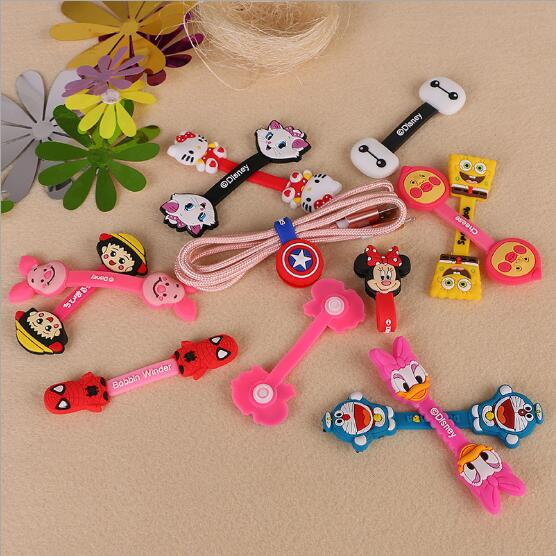 Office & School Supplies Trustful Kawaii Animals Stationery Holder Cable Winder Chick Headphone Winder Earbud Silicone Cord Wrap Wire Organizer Earphone Cord 4pcs Stationery Holder