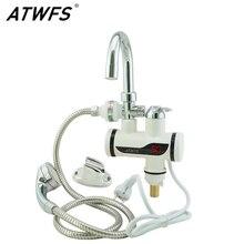 Atwfs natychmiastowy prysznic elektryczny podgrzewacz wody błyskawiczne podgrzewacz ciepłej wody ogrzewania wody z kranu kran kuchnia elektryczna chwilowa