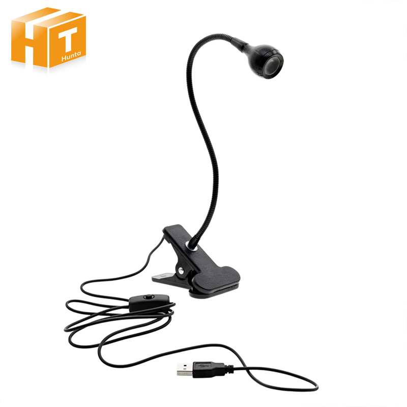 LED Desk Lamp Flexible Clip USB 1W LED Reading Lamp Adjustable Brightness Eye-protection Table Lamp Night Lighting