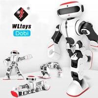 Wltoys F8 Доби интеллектуальные гуманоид голос Управление Многофункциональный приложение Управление RC DIY робот игрушки Детский подарок VS JJRC R1
