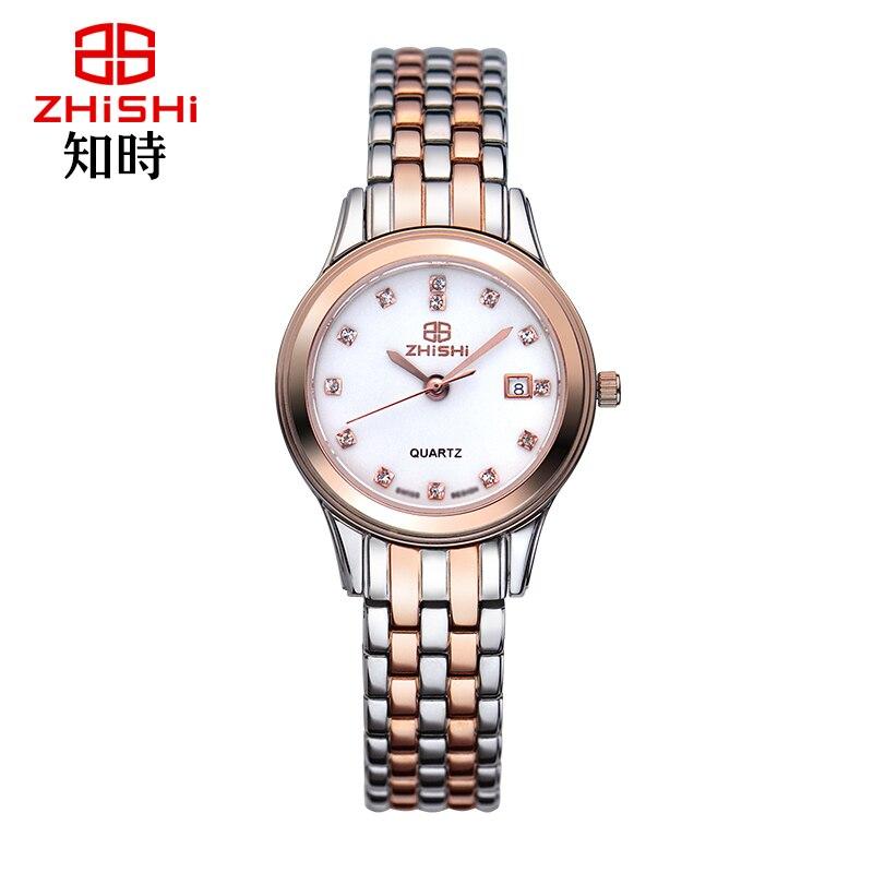 ФОТО Sapphire Crystal 316L Steel Luxury Women Rose Gold Watch Auto Date Ladies Quartz Dress Watch 5ATM relogio feminino