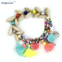 Новые браслеты ручной работы дружбы с кисточками подвесками
