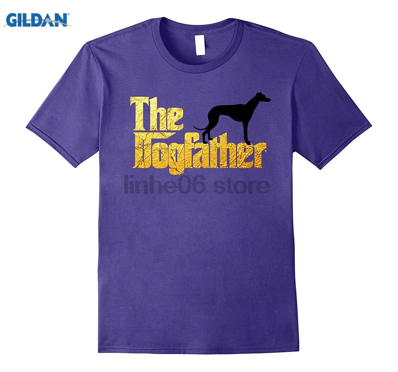 GILDAN Greyhound Dogfather T Shirt - Greyhound Lover tshirt 2018 Fashion Style Retro T-shirt Short Sleeve Hot Womens T-shirt