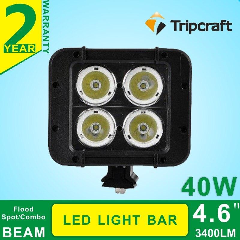 ФОТО 2PCS 4.6inch 40W LED Work Light Bar for Truck Moto LED ATV Offroad Light Bar 4X4 Fog Light LED Drving Light Seckill 18w 27w