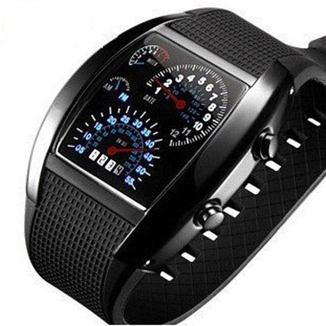 Digital Watch Men Fashion Men's Watches Unique Designer LED Mens Wristwatches El